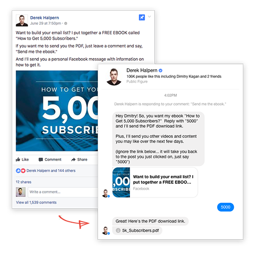 Facebook Messenger Bot for Marketing and Sales | WhatsHelp